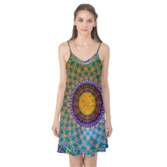 Temple Abstract Ceiling Chinese Camis Nightgown