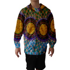 Temple Abstract Ceiling Chinese Hooded Wind Breaker (Kids)