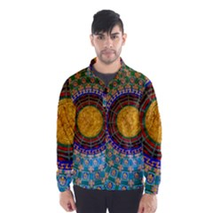 Temple Abstract Ceiling Chinese Wind Breaker (men)