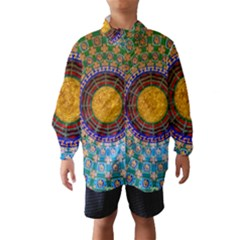 Temple Abstract Ceiling Chinese Wind Breaker (Kids)
