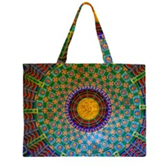 Temple Abstract Ceiling Chinese Large Tote Bag