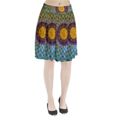 Temple Abstract Ceiling Chinese Pleated Skirt
