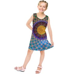 Temple Abstract Ceiling Chinese Kids  Tunic Dress