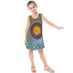 Temple Abstract Ceiling Chinese Kids  Sleeveless Dress