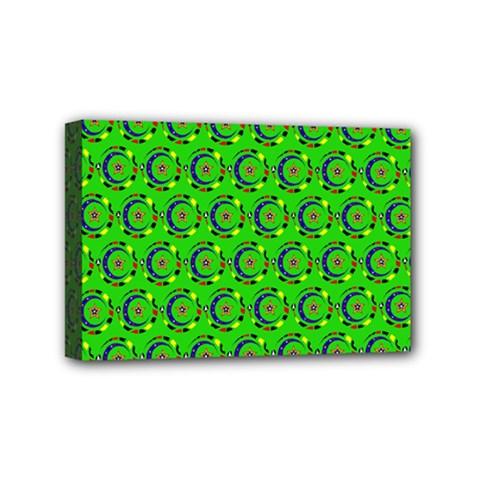 Abstract Art Circles Swirls Stars Mini Canvas 6  x 4