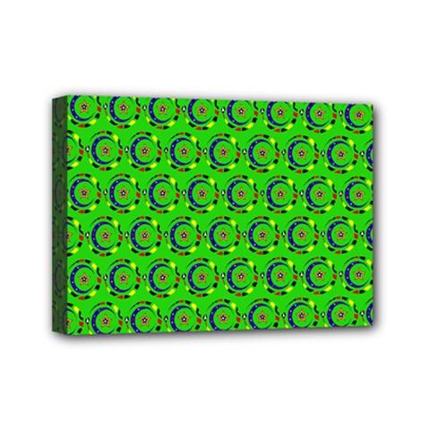 Abstract Art Circles Swirls Stars Mini Canvas 7  x 5