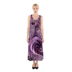Abstract Art Fractal Art Fractal Sleeveless Maxi Dress