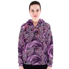 Abstract Art Fractal Art Fractal Women s Zipper Hoodie