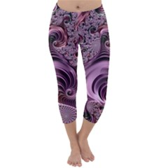 Abstract Art Fractal Art Fractal Capri Winter Leggings