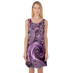 Abstract Art Fractal Art Fractal Sleeveless Satin Nightdress