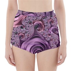 Abstract Art Fractal Art Fractal High Waisted Bikini Bottoms
