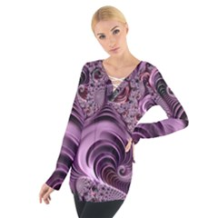 Abstract Art Fractal Art Fractal Women s Tie Up Tee