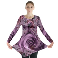 Abstract Art Fractal Art Fractal Long Sleeve Tunic