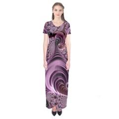 Abstract Art Fractal Art Fractal Short Sleeve Maxi Dress
