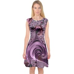 Abstract Art Fractal Art Fractal Capsleeve Midi Dress