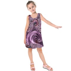 Abstract Art Fractal Art Fractal Kids  Sleeveless Dress