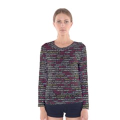 Full Frame Shot Of Abstract Pattern Women s Long Sleeve Tee