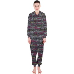 Full Frame Shot Of Abstract Pattern Hooded Jumpsuit (Ladies)