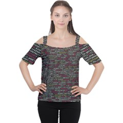 Full Frame Shot Of Abstract Pattern Women s Cutout Shoulder Tee