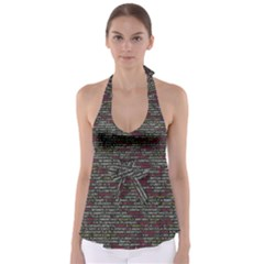 Full Frame Shot Of Abstract Pattern Babydoll Tankini Top