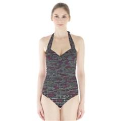 Full Frame Shot Of Abstract Pattern Halter Swimsuit