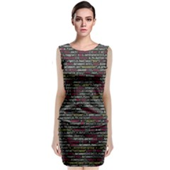 Full Frame Shot Of Abstract Pattern Classic Sleeveless Midi Dress