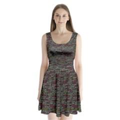 Full Frame Shot Of Abstract Pattern Split Back Mini Dress