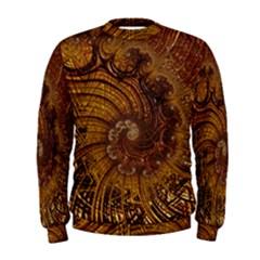 Copper Caramel Swirls Abstract Art Men s Sweatshirt