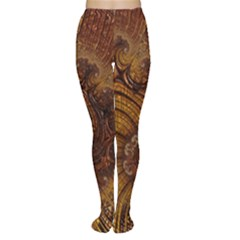 Copper Caramel Swirls Abstract Art Women s Tights