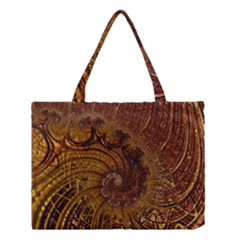 Copper Caramel Swirls Abstract Art Medium Tote Bag