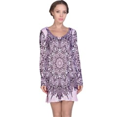 Sacred Art Shaman Shamanism Long Sleeve Nightdress