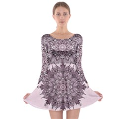 Sacred Art Shaman Shamanism Long Sleeve Skater Dress