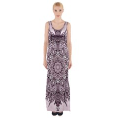 Sacred Art Shaman Shamanism Maxi Thigh Split Dress