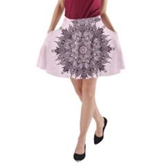 Sacred Art Shaman Shamanism A-Line Pocket Skirt