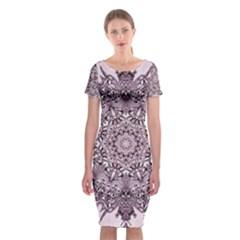 Sacred Art Shaman Shamanism Classic Short Sleeve Midi Dress