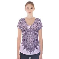 Sacred Art Shaman Shamanism Short Sleeve Front Detail Top