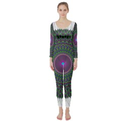 Pattern District Background Long Sleeve Catsuit