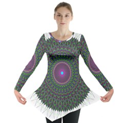 Pattern District Background Long Sleeve Tunic