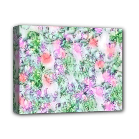 Softly Floral A Deluxe Canvas 14  x 11