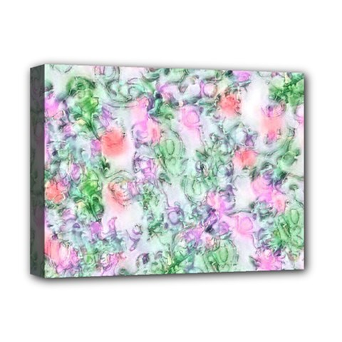 Softly Floral A Deluxe Canvas 16  x 12