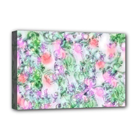 Softly Floral A Deluxe Canvas 18  x 12