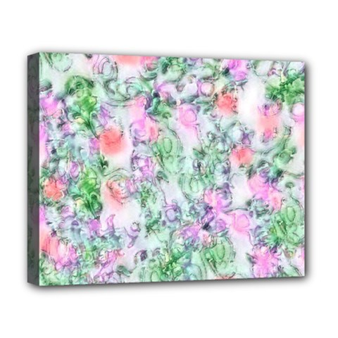 Softly Floral A Deluxe Canvas 20  x 16