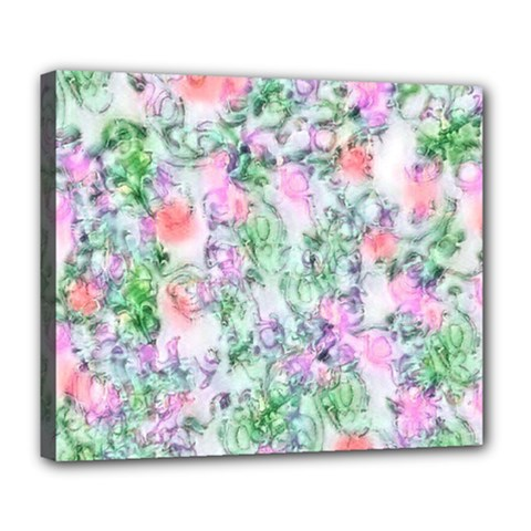 Softly Floral A Deluxe Canvas 24  x 20