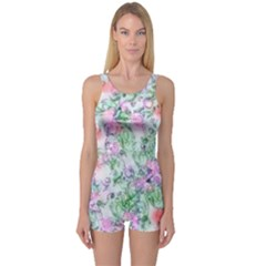 Softly Floral A One Piece Boyleg Swimsuit