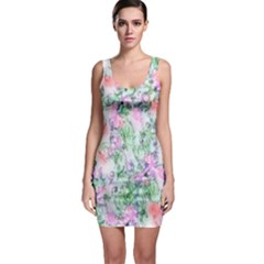 Softly Floral A Sleeveless Bodycon Dress