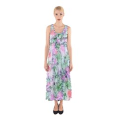 Softly Floral A Sleeveless Maxi Dress