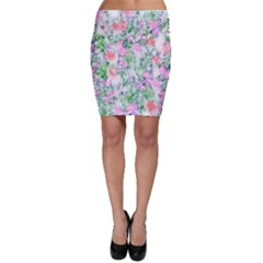Softly Floral A Bodycon Skirt