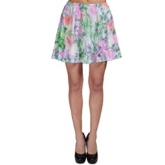 Softly Floral A Skater Skirt