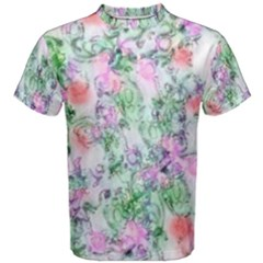 Softly Floral A Men s Cotton Tee