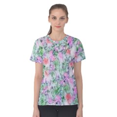 Softly Floral A Women s Cotton Tee